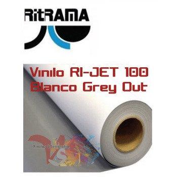 Vinilo RI-JET 100 Blanco Mate Grey out (Ancho 105 cm) - Vinilos y Serigrafía