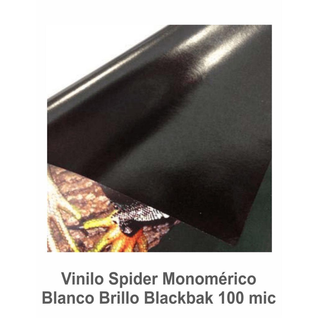 Vinilo Spider Blanco Brillo Blackbak (P) 100 mic. (Ancho 1.37 m)