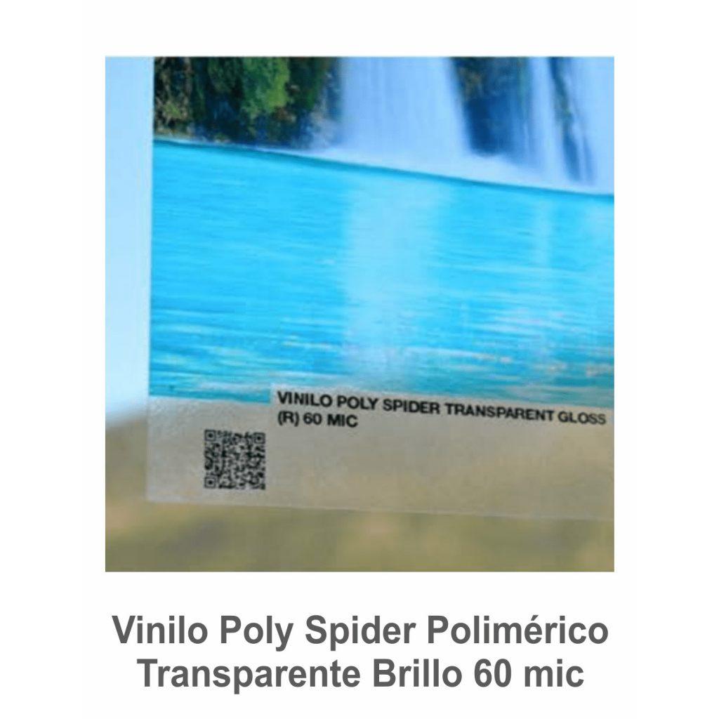 Vinilo Poly Spider Transparente Brillo (R) 60 mic. (Ancho 1.37 m)