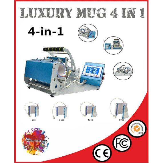 Plancha Tazas Luxury MUG-4 in 1 - Vinilos y Serigrafía