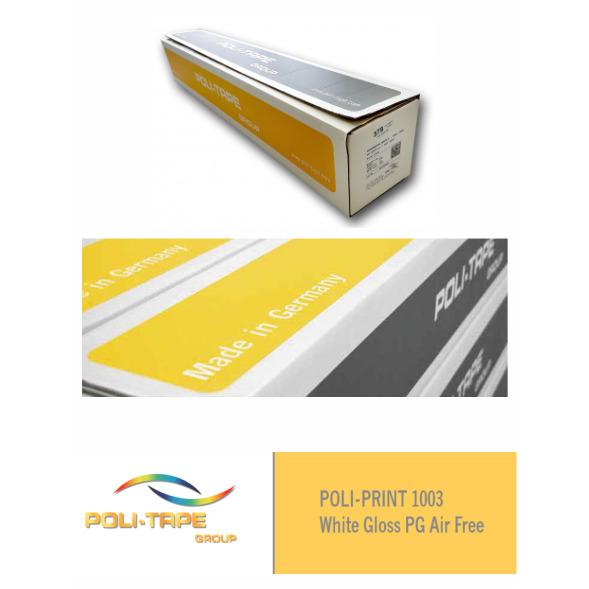 Vinilo POLI-PRINT 1003 Polimérico Blanco Brillo PG Air Free - Vinilos y Serigrafía