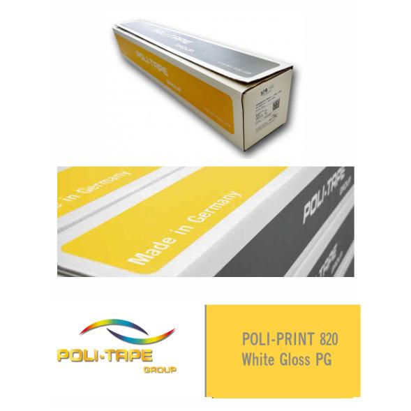 Vinilo POLI-PRINT 820 Monomérico Blanco Brillo PG - Vinilos y Serigrafía