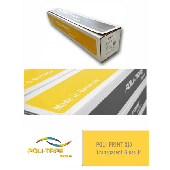 Vinilo POLI-PRINT 810 Monomérico Transparente Brillante P (Ancho 105 cm) - Vinilos y Serigrafía