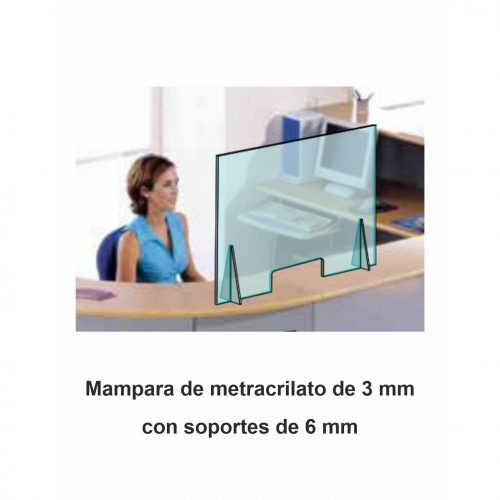 Mampara Protectora COVID19 - 1,4 x 0,70 m - Vinilos y Serigrafía