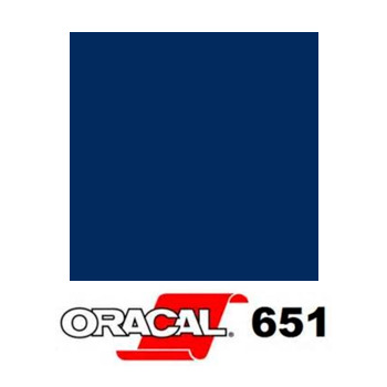050 Azul Oscuro 651 - Ancho 126 cm - Vinilos y Serigrafía